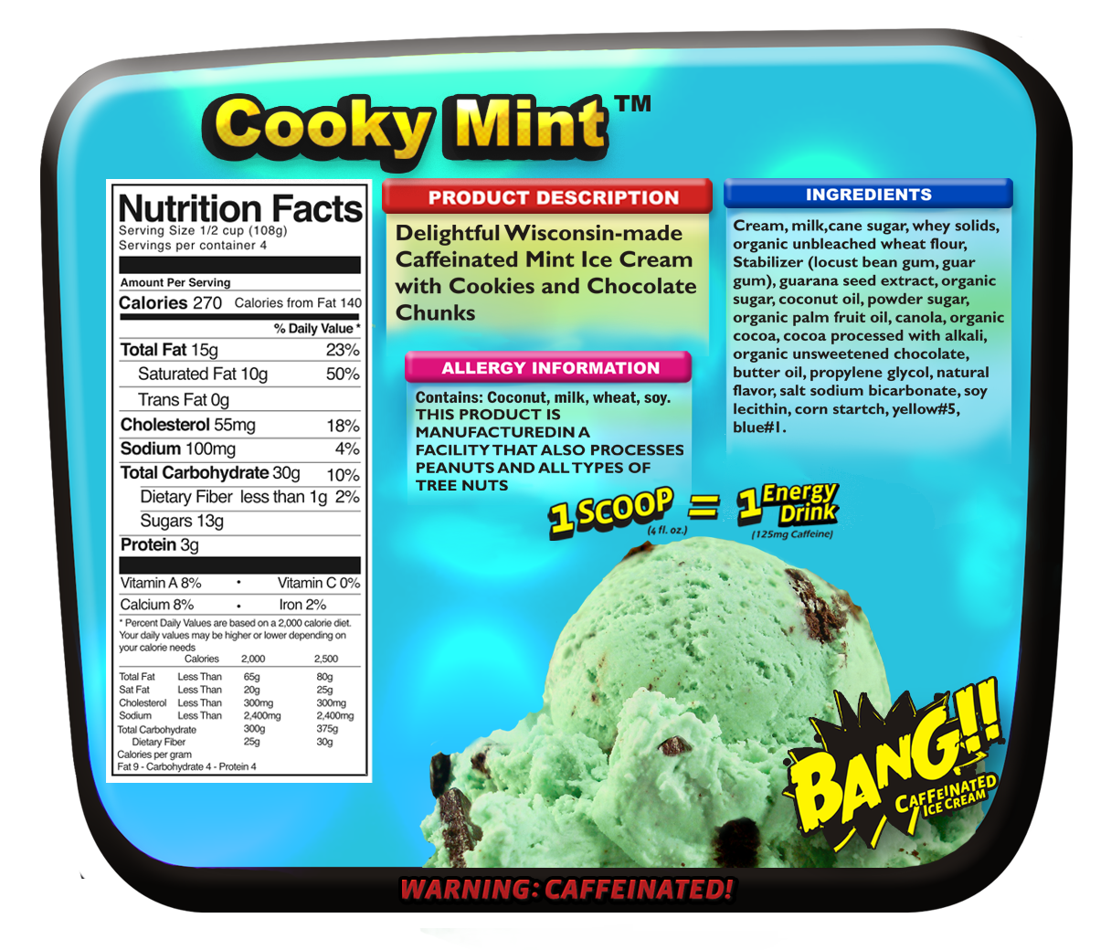 Cooky Mint Nutritionals